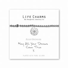 "Life Charms Bracelet - "" May All Your DREAMS COME TRUE "" -  Gift Boxed"